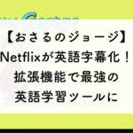 Netflixのおさるのジョージが英語字幕つきに!Chrome拡張で最強のおうち英語ツールになった。