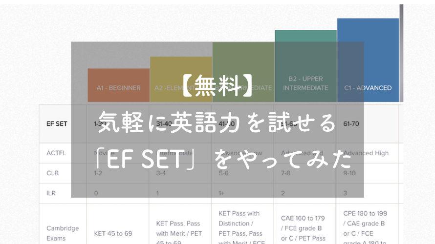 【無料】気軽に英語力を診断できる「EFSET」をやってみた。