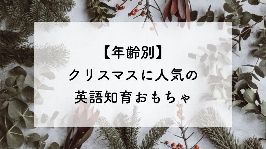 クリスマスに!おすすめの英語知育おもちゃ